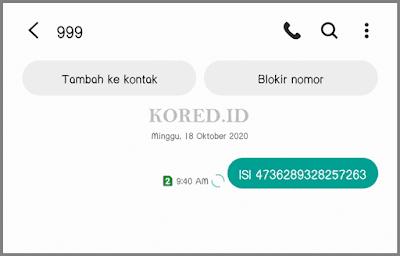 Memasukkan Kode Voucher  Smartfren Lewat SMS