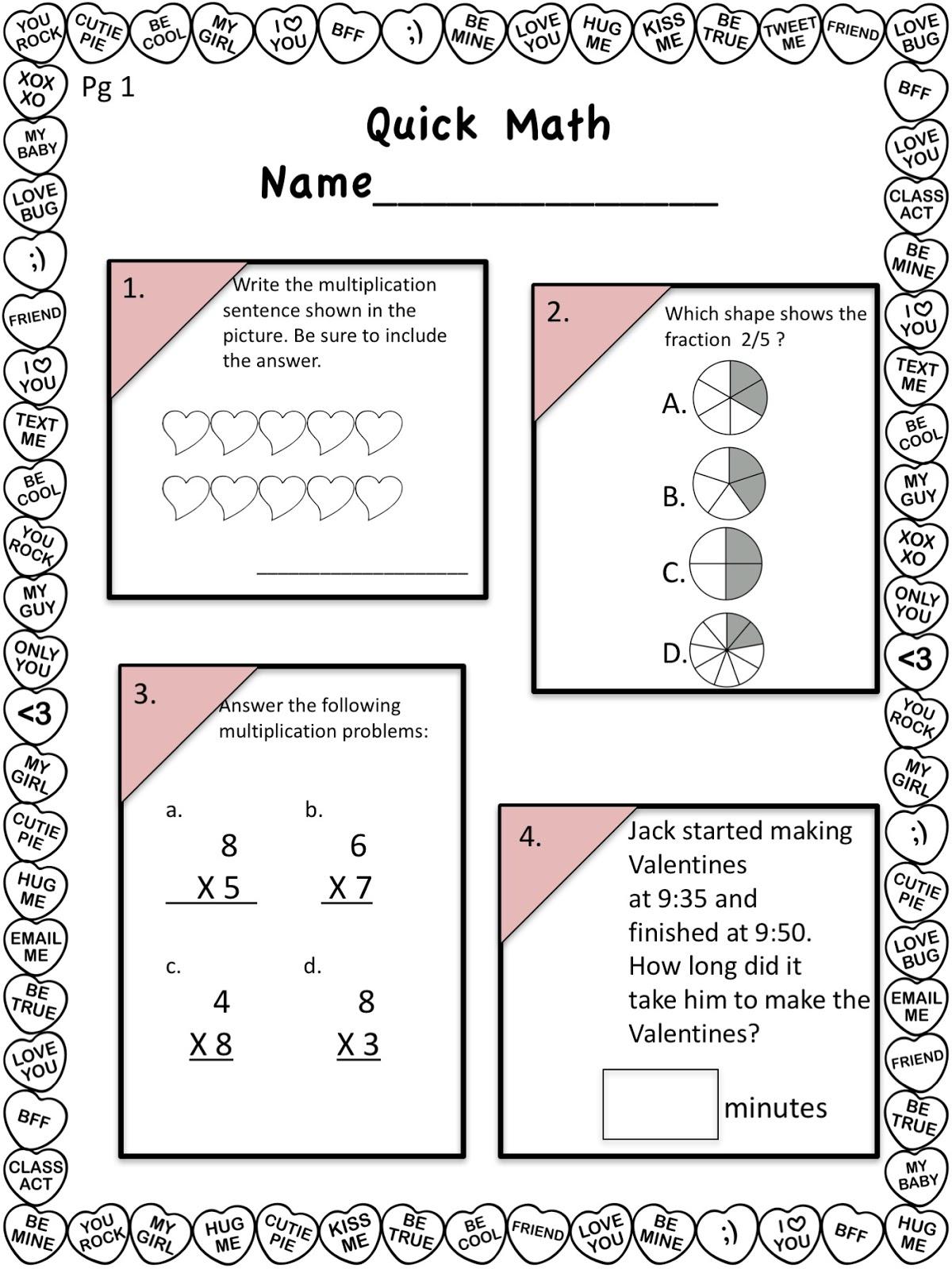 Dragon's Den Curriculum: Valentine Math Freebie
