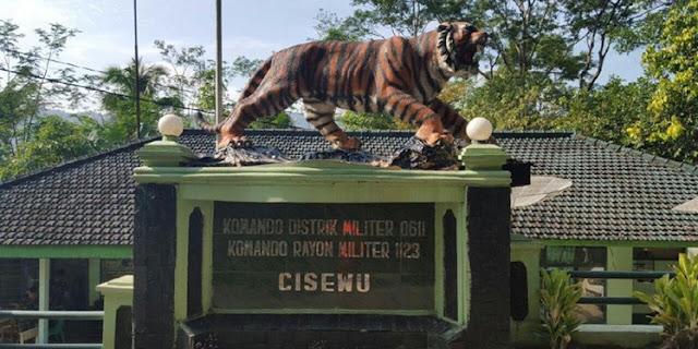 Patung Harimau Lucu Cisewu, Diganti Lebih Sangar.. Apa Komentar Netizen?