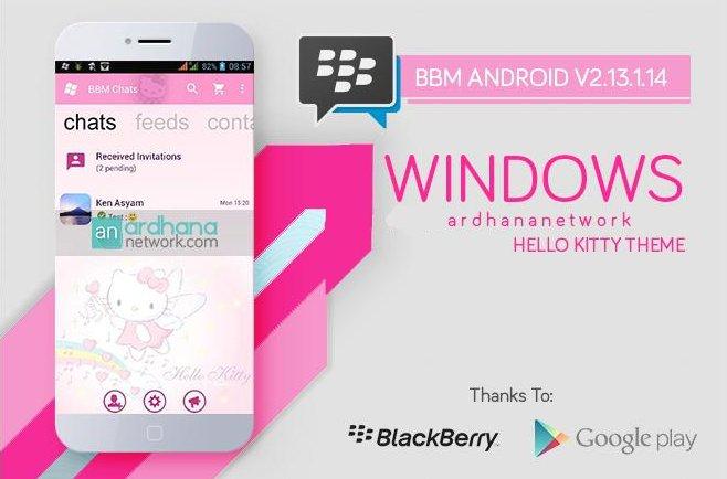 BBM MOD Windows Phone Hello Kitty pink