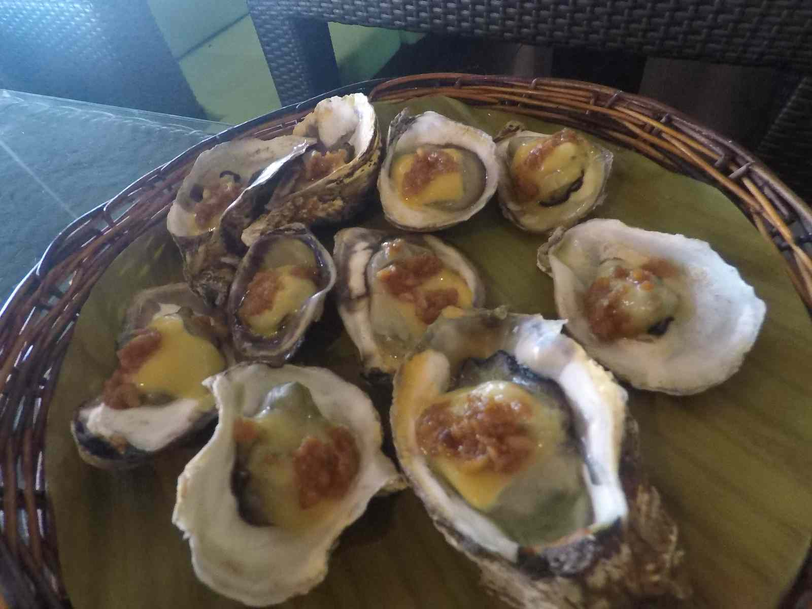 Baked oysters at Lantaw Seafood Restaurant