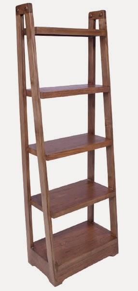 estanteria de pie madera de roble