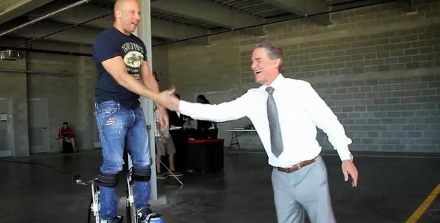 Kurt Russell şi Vin Diesel pe platourile de filmare la Fast And Furious 7