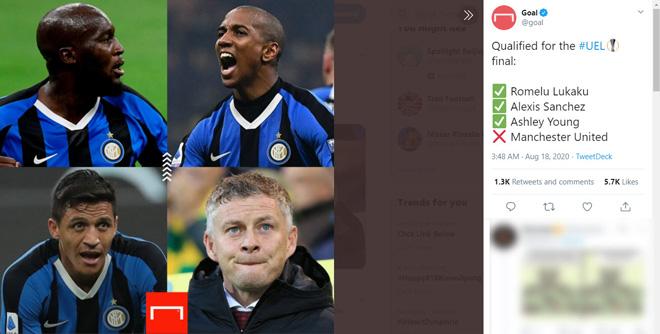 """Lukaku cú đúp, Inter đại thắng: Báo chí """"đá xoáy"""" MU, Solskjaer muối mặt"""
