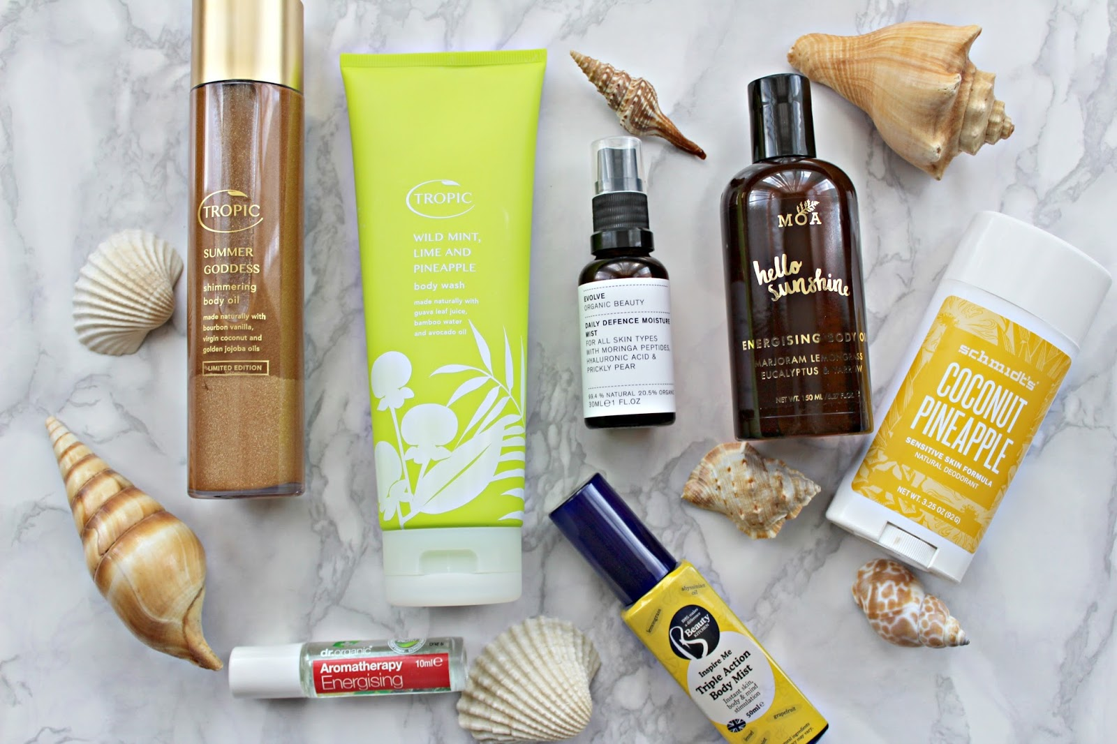 Summer beauty buys – Featuring Tropic Skincare, Moa, Schmidt's, Dr Organic, and Beauty Kitchen