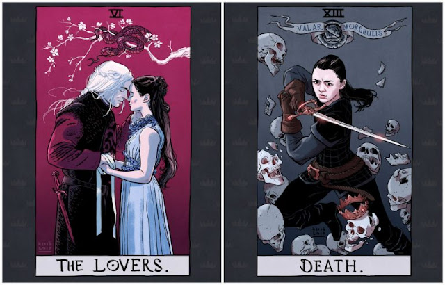 Personagens de Game of Thrones como cartas de Tarô
