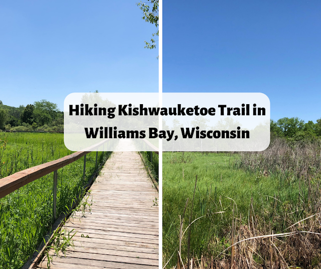 Hiking Kishwauketoe Trail in Williams Bay, Wisconsin near Lake Geneva, Wisconsin