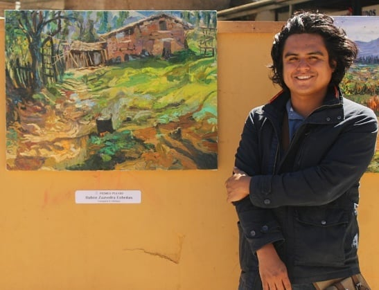 Rubén Saavedra, ganador del V Concurso Internacional  de Pintura Rápida