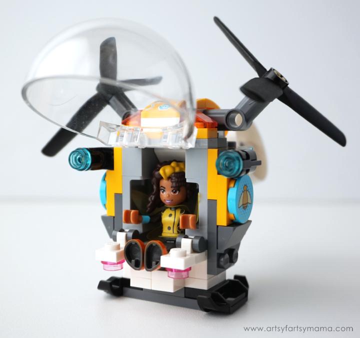 LEGO DC Superhero Girls Bumblebee Helicopter and Free Printable DC Superhero Girls Bookmarks