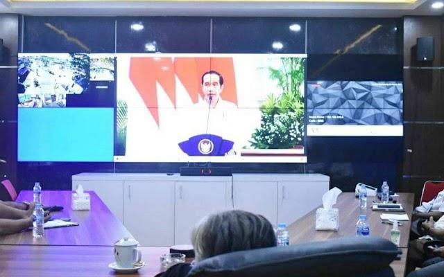 Bupati Sintang Mengikuti Rakornas Penanggulangan Bencana (PB) 2021