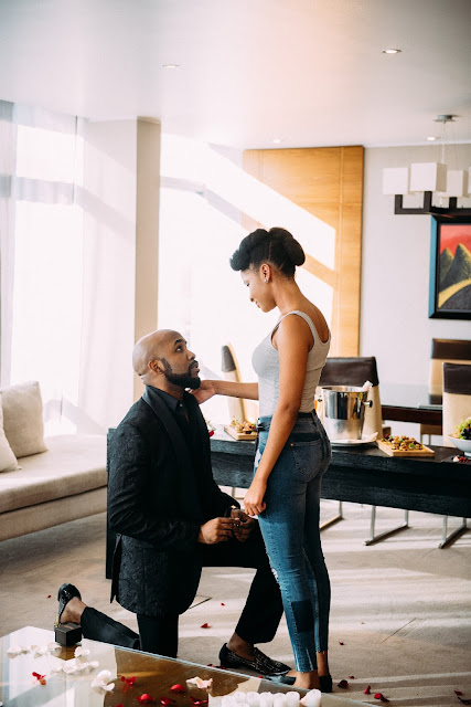 Banky W and Adesuwa Etomi are Engaged