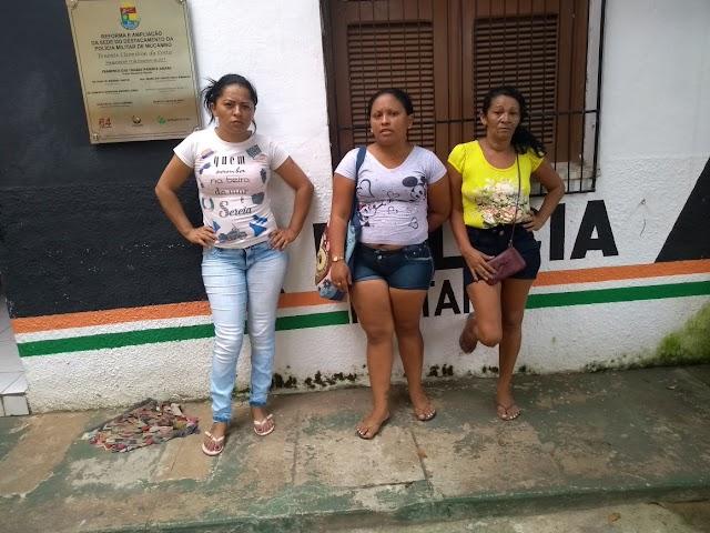 Mucambo-CE: Policia Militar prende em flagrante 3 mulheres após praticarem furto no centro da cidade.