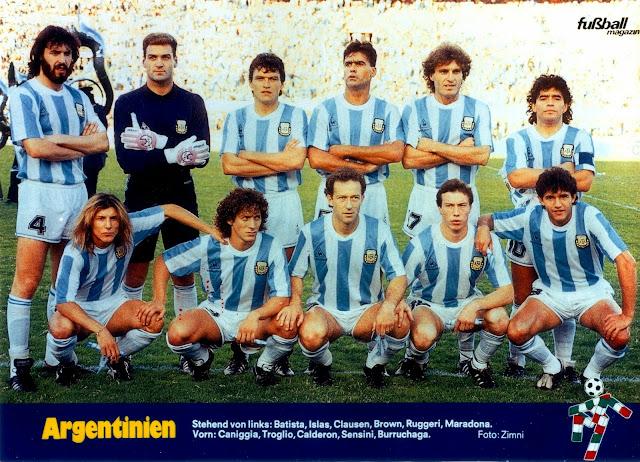 Formación de Argentina ante Chile, Copa América 1989, 2 de julio