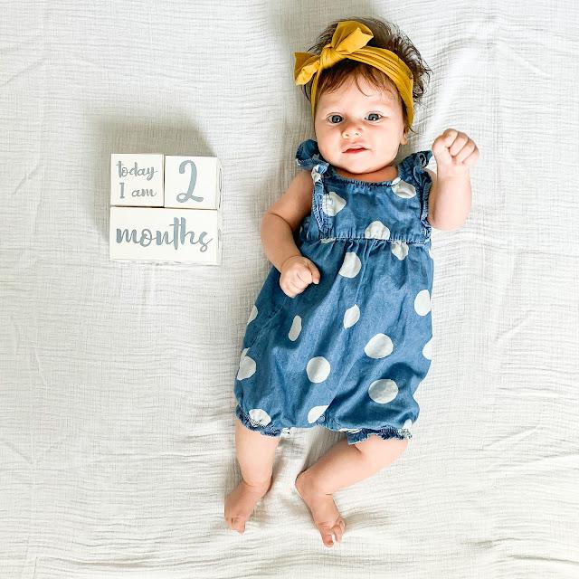 2 month baby update #babyupdate #monthlybabyphoto