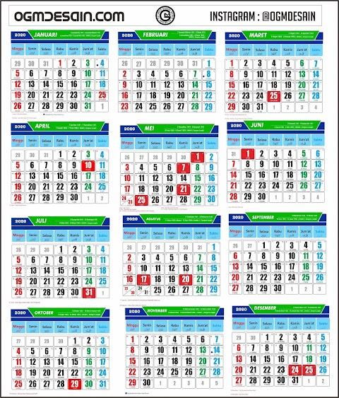 Gambar Kalender Jawa 2020