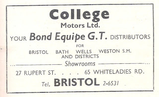 College Motors Ltd Bond advert from Motor 16 October 1963