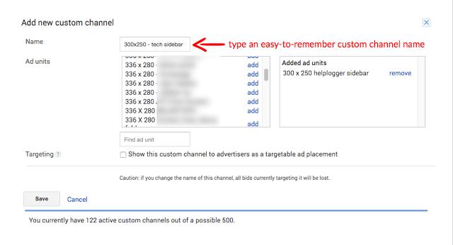 saluran khusus baru google adsense