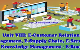 Unit VIII: E-Customer Relation Management, E-Supply Chain, E-Strategy and Knowledge Management - E-Business