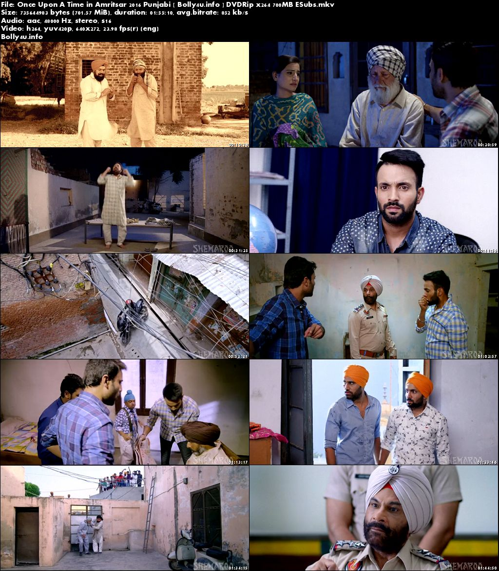 Screen Shoots of Watch Online Once Upon A Time in Amritsar 2016 DVDRip 700MB Punjabi Movie ESubs Free Download Bolly4u.info