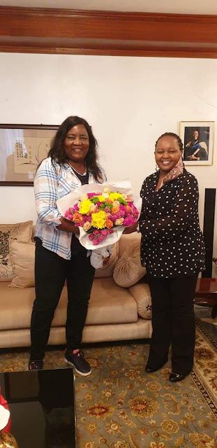 Governor Anne Waiguru meets Dr Ida Odinga