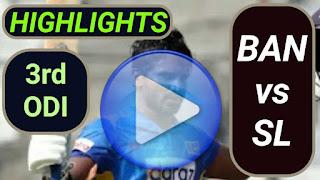 BAN vs SL 3rd ODI 2021