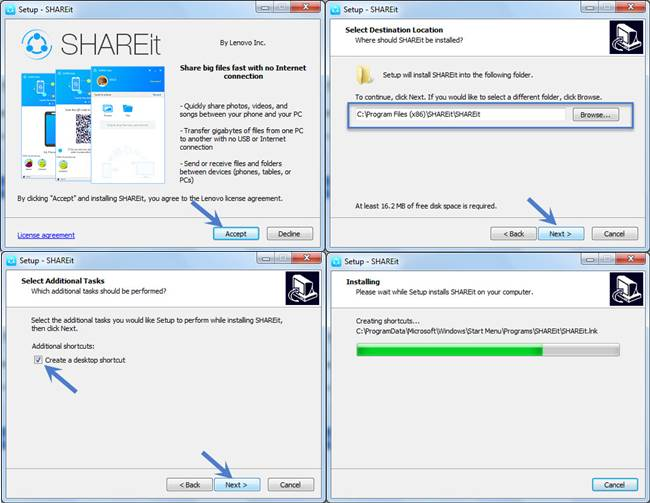 SHAREit For Windows 10 Download Free Latest Version [32/64 Bit ]
