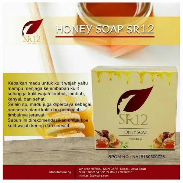 Sabun Madu Honey Soap Sr12 Tasik Untuk Perawatan Kulit Kering