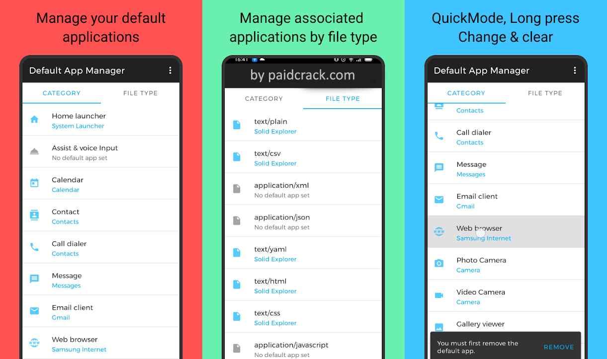 Default App Manager Paid Apk 2.0.2