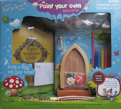Packaging of the Irish fairy door kit