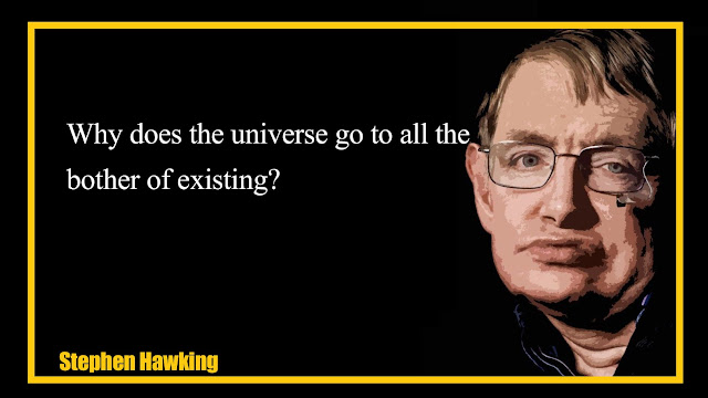 Why does the universe go to all the bother of existing Stephen Hawking Quotes