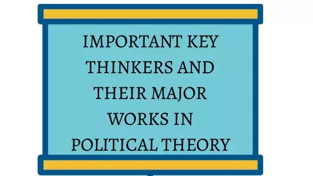 Important Key Thinkers in Political Theory | Political Science | Ideolgy