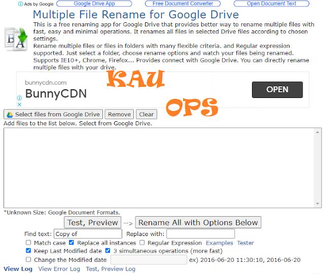 Langkah Ke Enam dalam Merename File Masal Di Google Drive
