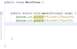 Menformat String Pada Java 3