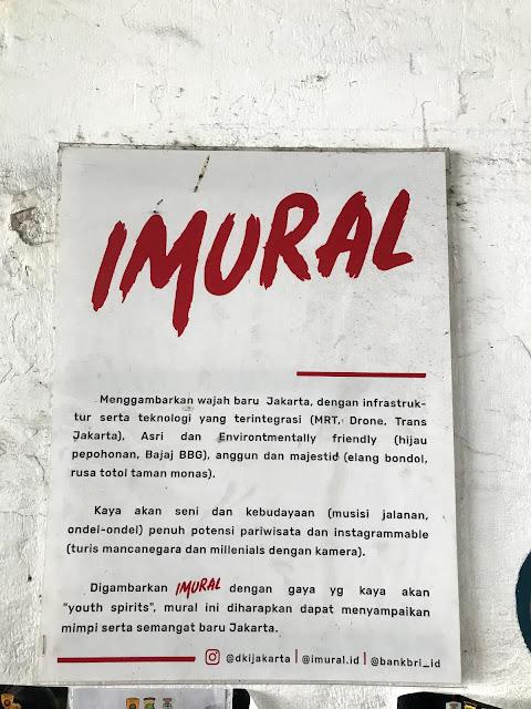 Art Mural at Kendal Tunnel, Central Jakarta