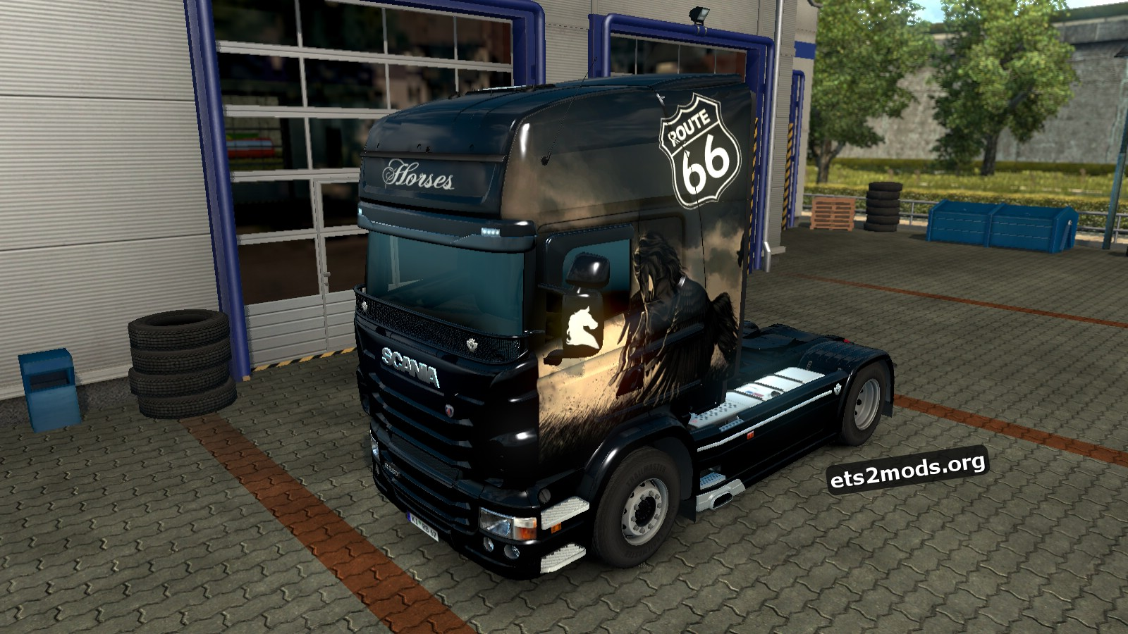 Horses Skin for Scania RJL
