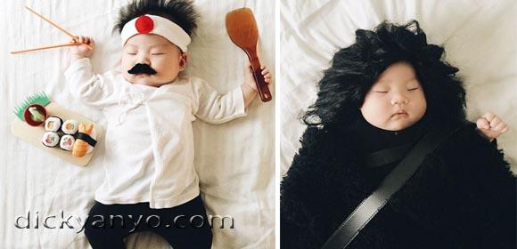 10 Cosplay Bayi Saat Tidur Ini Kelihatan Mirip Banget Sama Aslinya