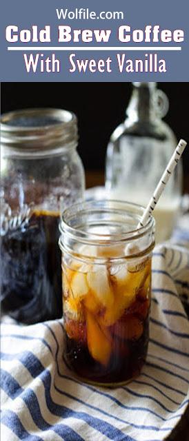 Cold Brew Coffee With Sweet Vanilla Cream Recipe #Coffee