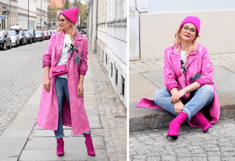 Pink-richtig-kombinieren-mantel-mütze