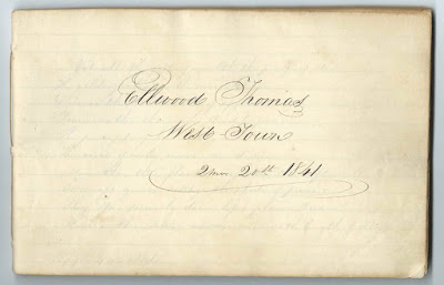 1841+ Autograph Album of Ellwood Thomas at Westtown Boarding School, West Town, Pennsylvania