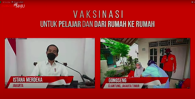 Presiden Jokowi Tinjau Vaksinasi untuk Pelajar dari Rumah ke Rumah