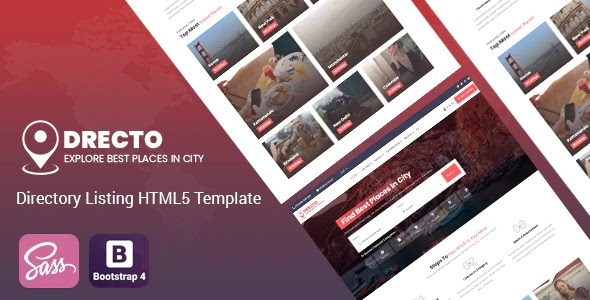 Directory Listing HTML5 Template