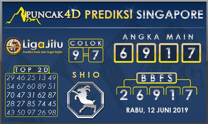 PREDIKSI TOGEL SINGAPORE PUNCAK4D 12 JUNI 2019