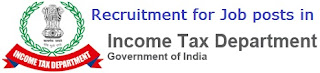 Recruitment for Job posts in Income Tax Department
