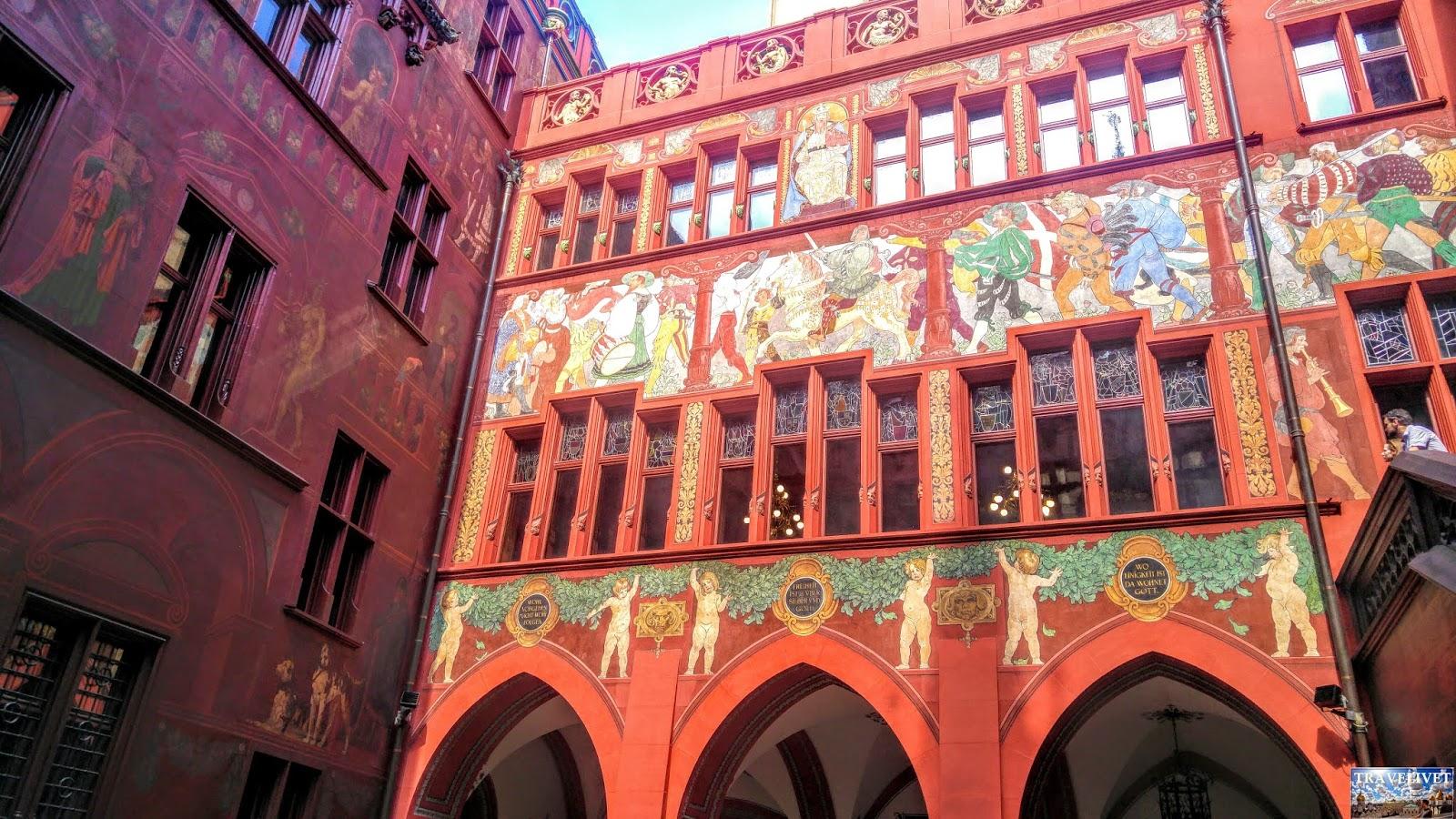 Bâle Basel Suisse cour intérieur hôtel de ville