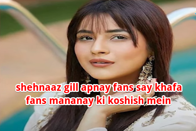 shehnaaz gill apnay fans say khafa fans mananay ki koshish mein