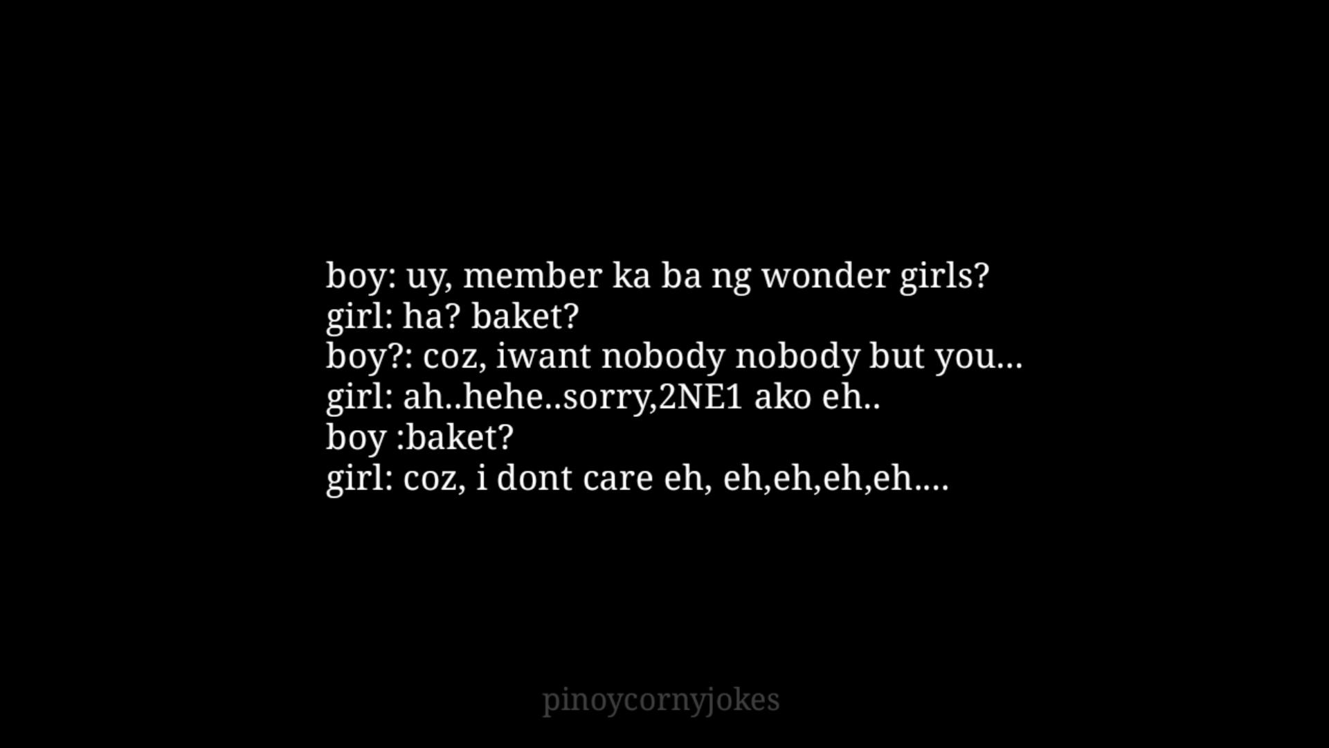wonder girls tagalog pick up lines