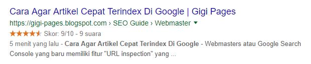 Cara Agar Artikel Cepat Terindex Di Google