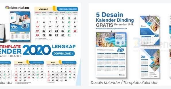 Download Template Kalender Tahun 2020 Gratis Disini ...