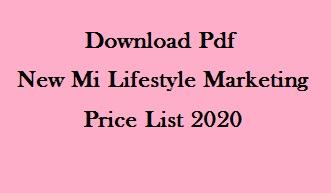 New Mi Lifestyle Marketing products price list