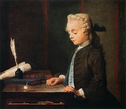Boy with a Top by Jean-Baptiste Simeon Chardin